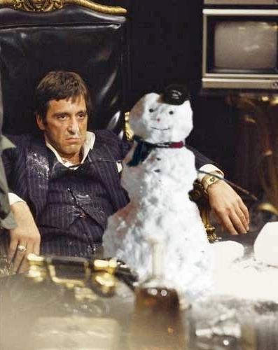 Scarface coke snowman
