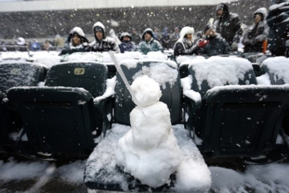 snowman in stands-Wash Post
